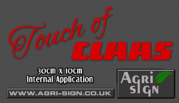 Touch of claas decal